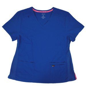 Koi Scrub Top 387-020 Royal Blue XL